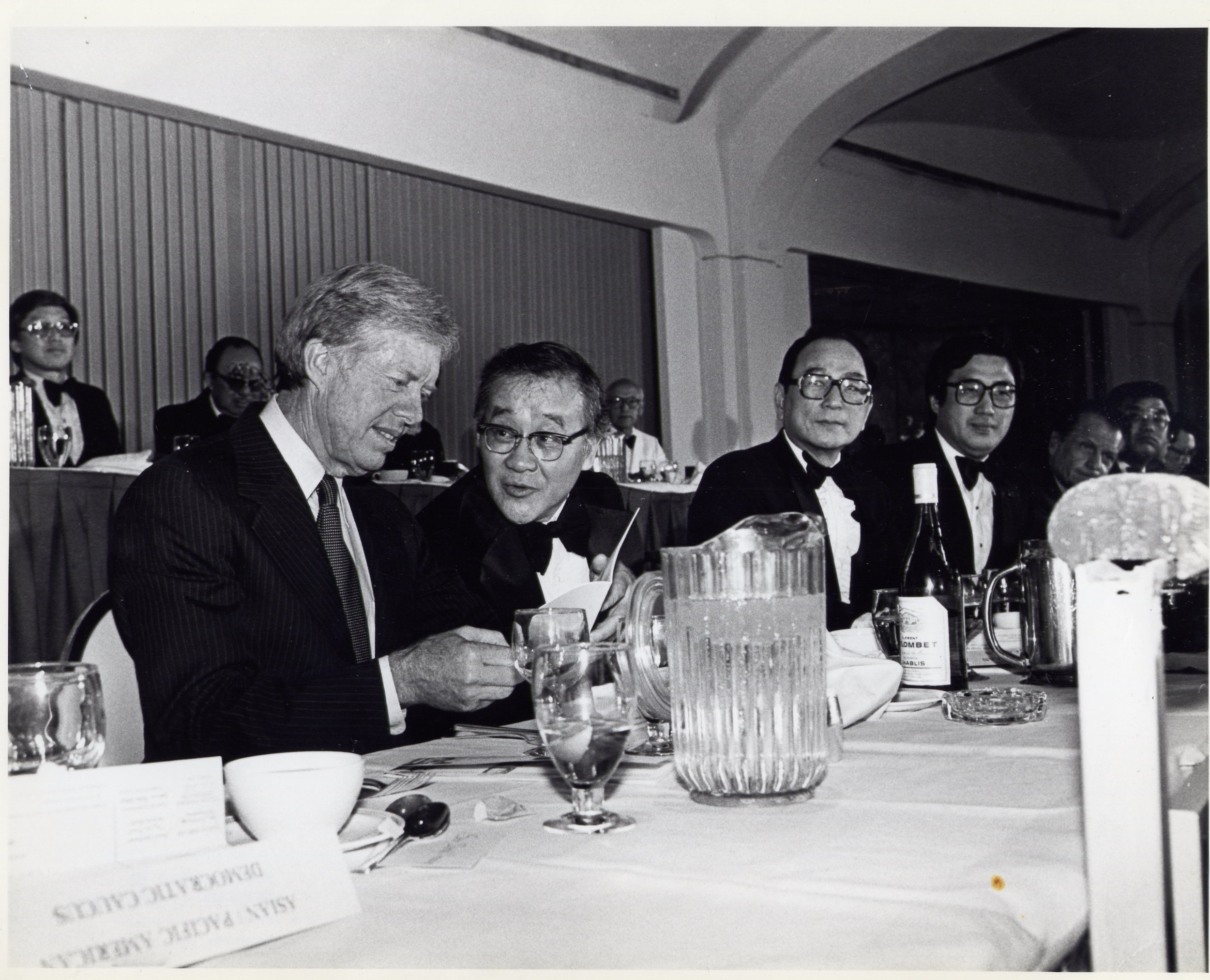 President Jimmy Carter and Co-founder Joji Konoshima at the first US-Asia Institute National Leadership Conference.