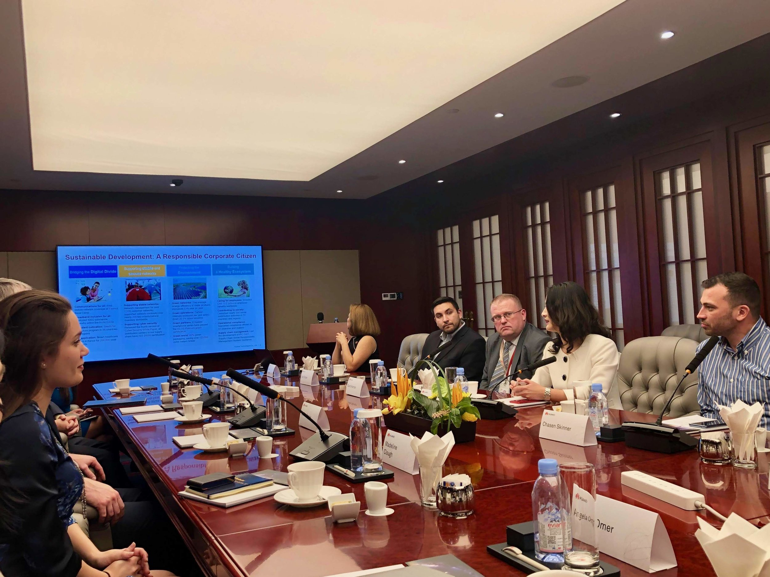 Delegates in a meeting in Shenzhen, China