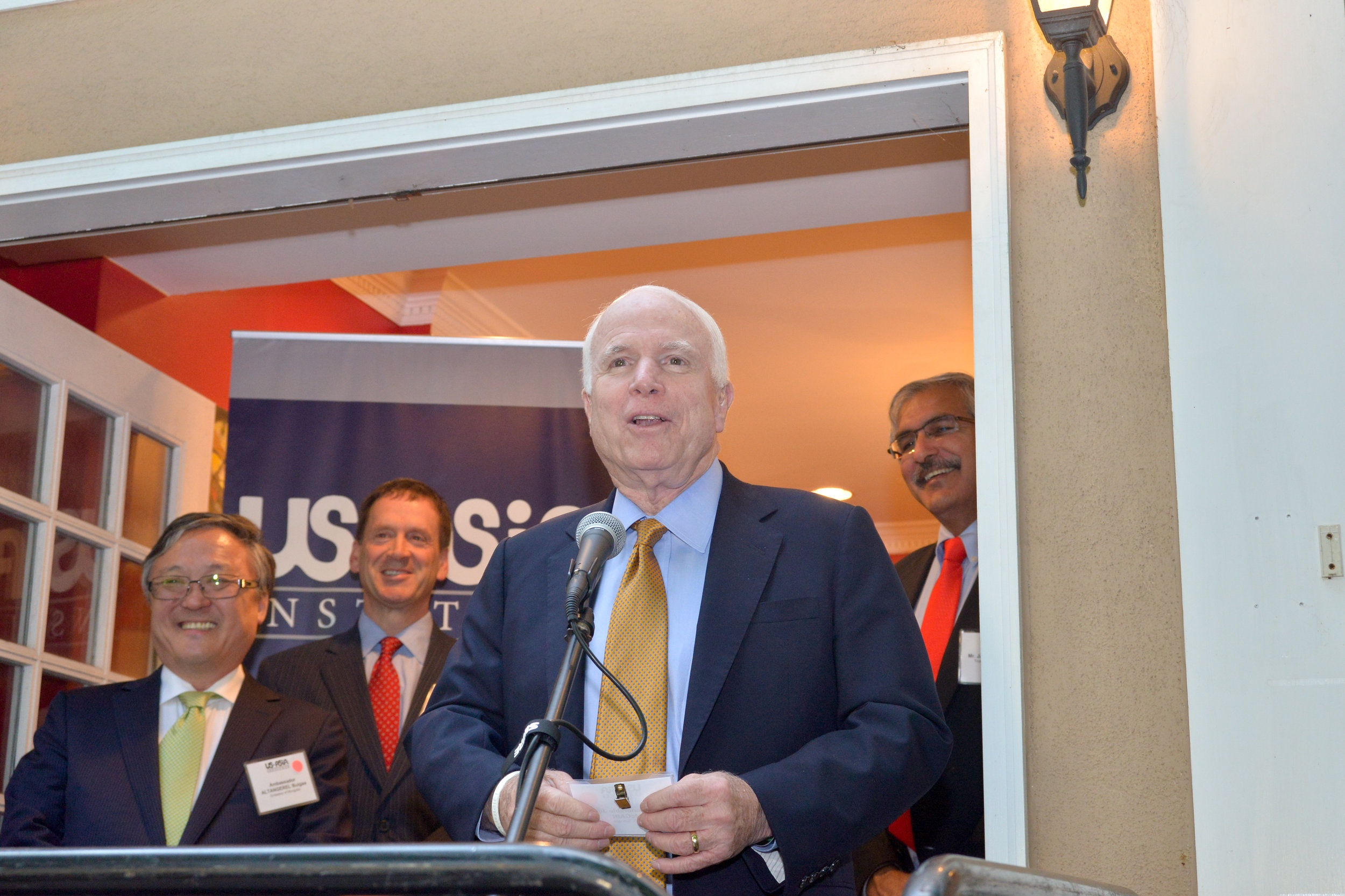 Senator John McCain at Mongolia Reception