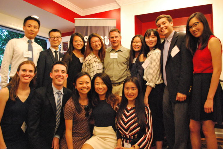 Eveleen Wan with USAI interns and Rule of Law fellows