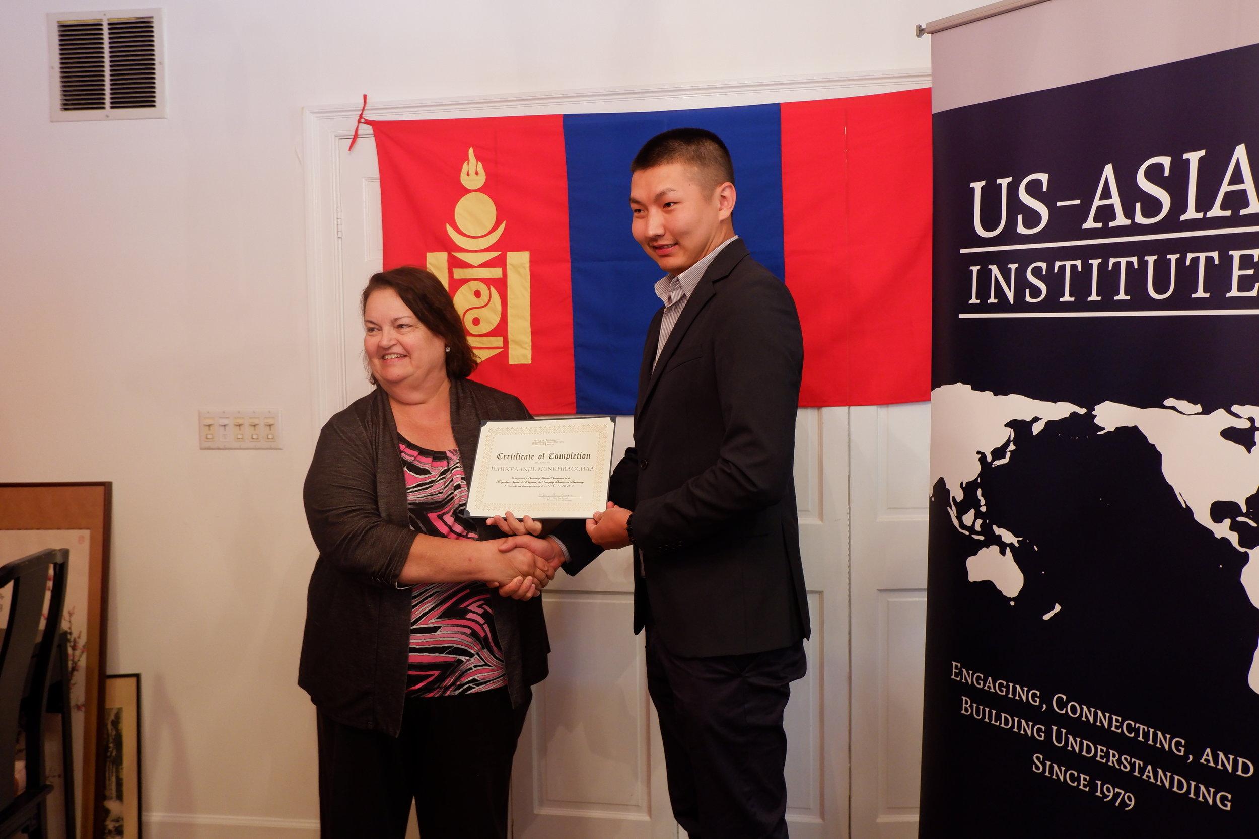 Participant Presented Certificate