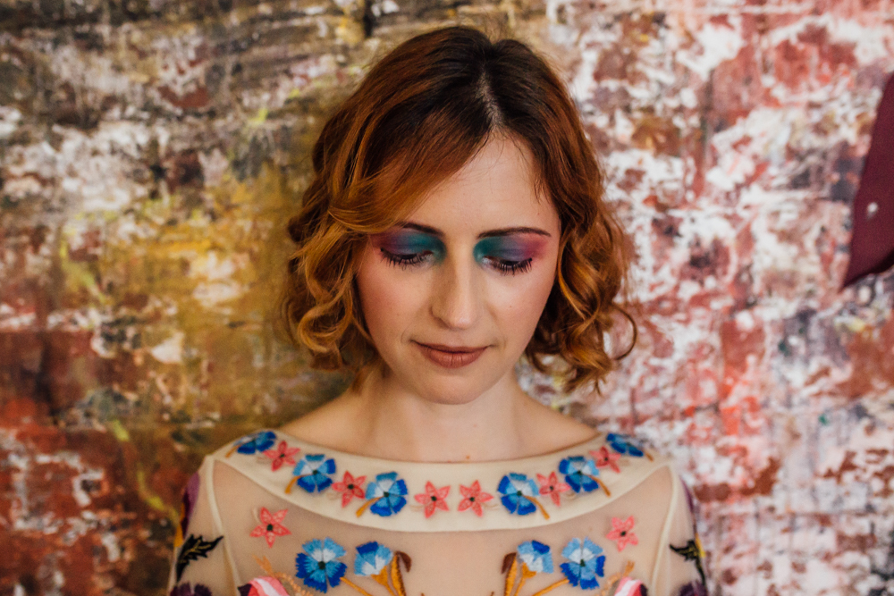 Bright Colourful Wedding Make up