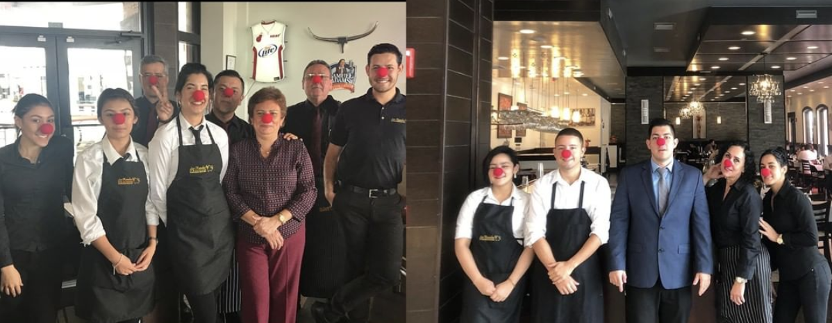 Our staff participating in Red Nose Day to bring awareness to and raise money for Child Poverty.