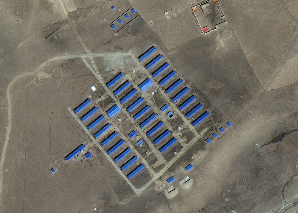 Aerial view of the nuns' accommodation, April 2017 (Apollo Mapping)
