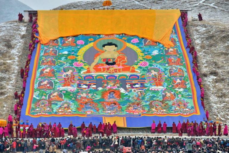 Monlam Chenmo Festival in Tibet, February 2019. Photo/Sichuanfun