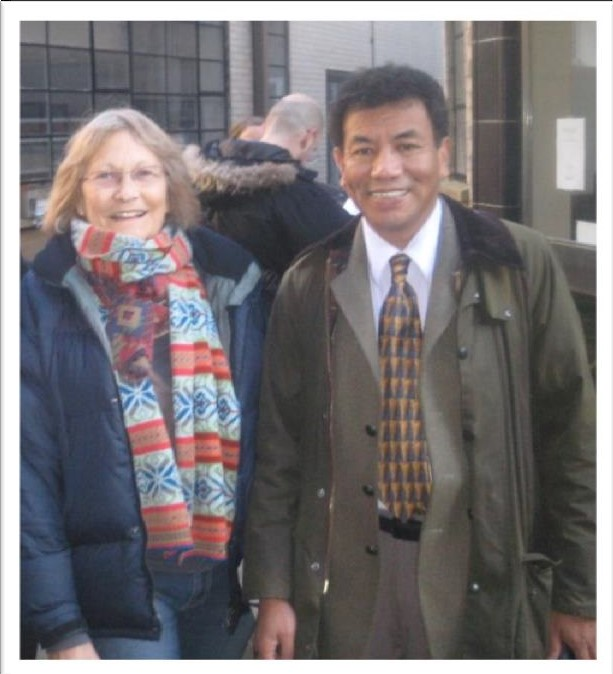 Sue Byrne and Dr Tsering Shakya, two of the founders of Tibet Support Group UK (1989)
