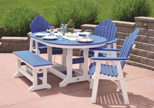 OUTDOOR FURNITURE - We offer multiple lines of low maintenance poly lumber and wood furniture. Click on the picture for more information.