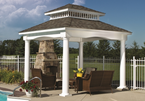 Pavilions - Click on the picture to view a selection of wood and vinyl Pavilions.