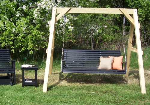 SWINGS AND BENCHES - Whether you are looking for a place to relax on the front porch or the backyard. Our swings and benches have you covered. Click on the picture to view more info.