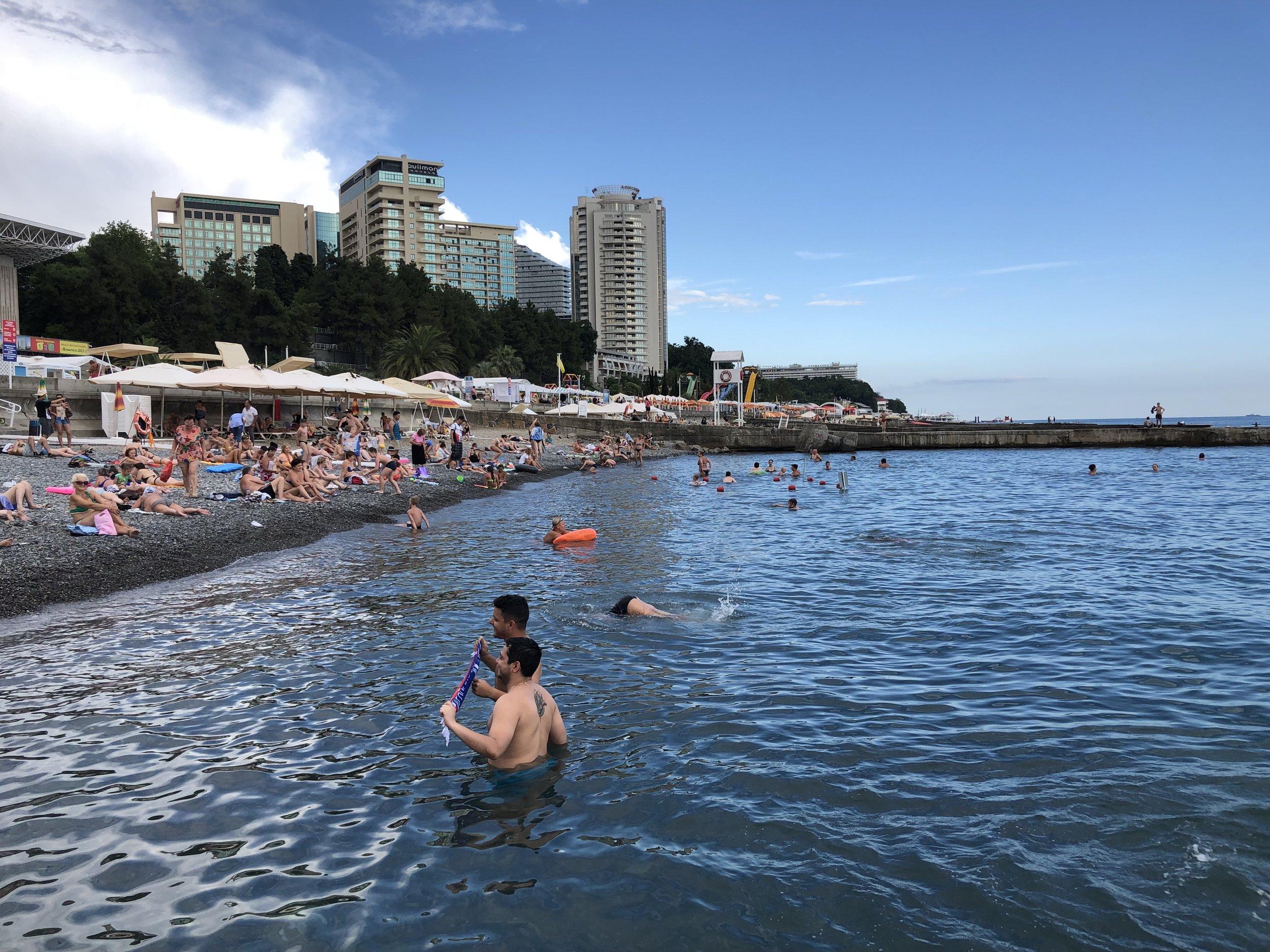 Mayak Beach on the Black Sea