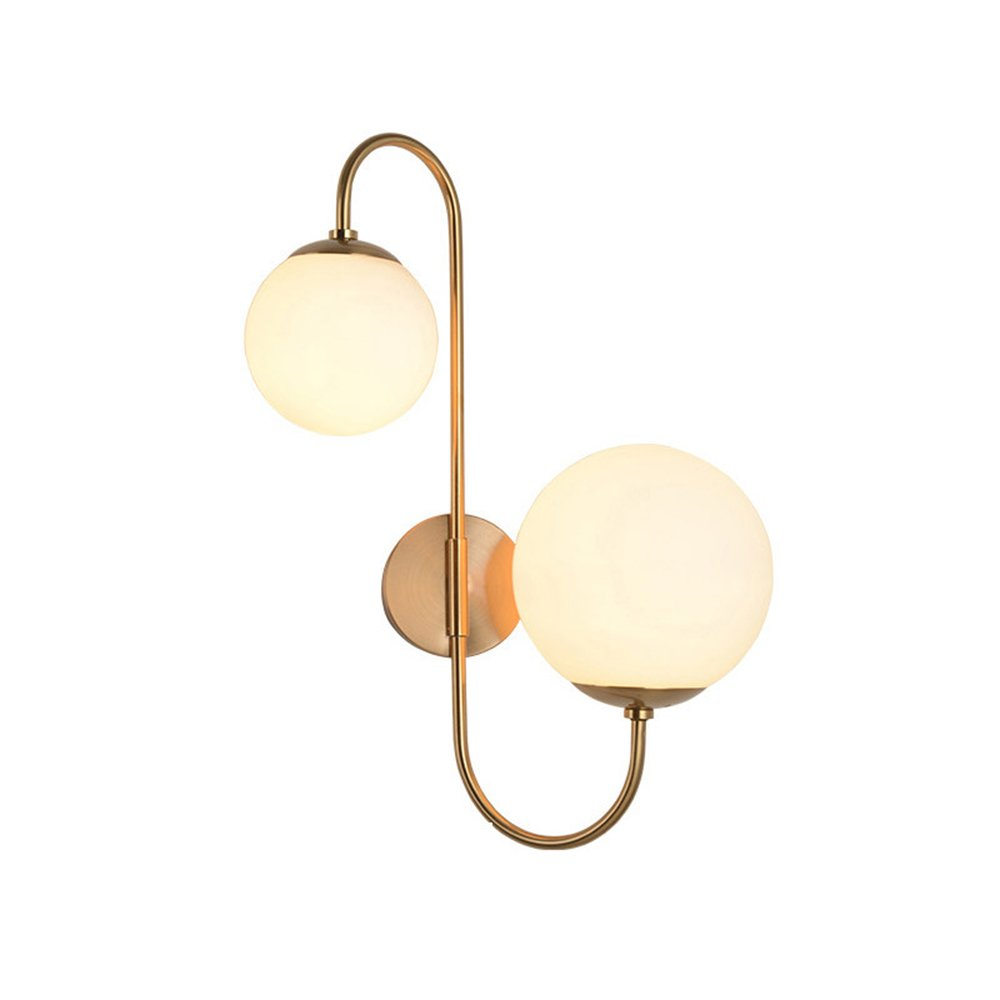 Modern Chic Milky White Glass Globe Aged Brass Light - $129.99