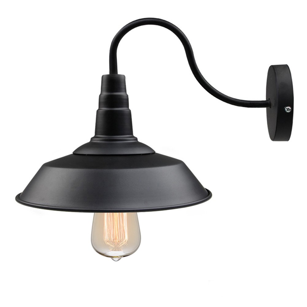 Black Barn Gooseneck Farmhouse Sconce - $28.48