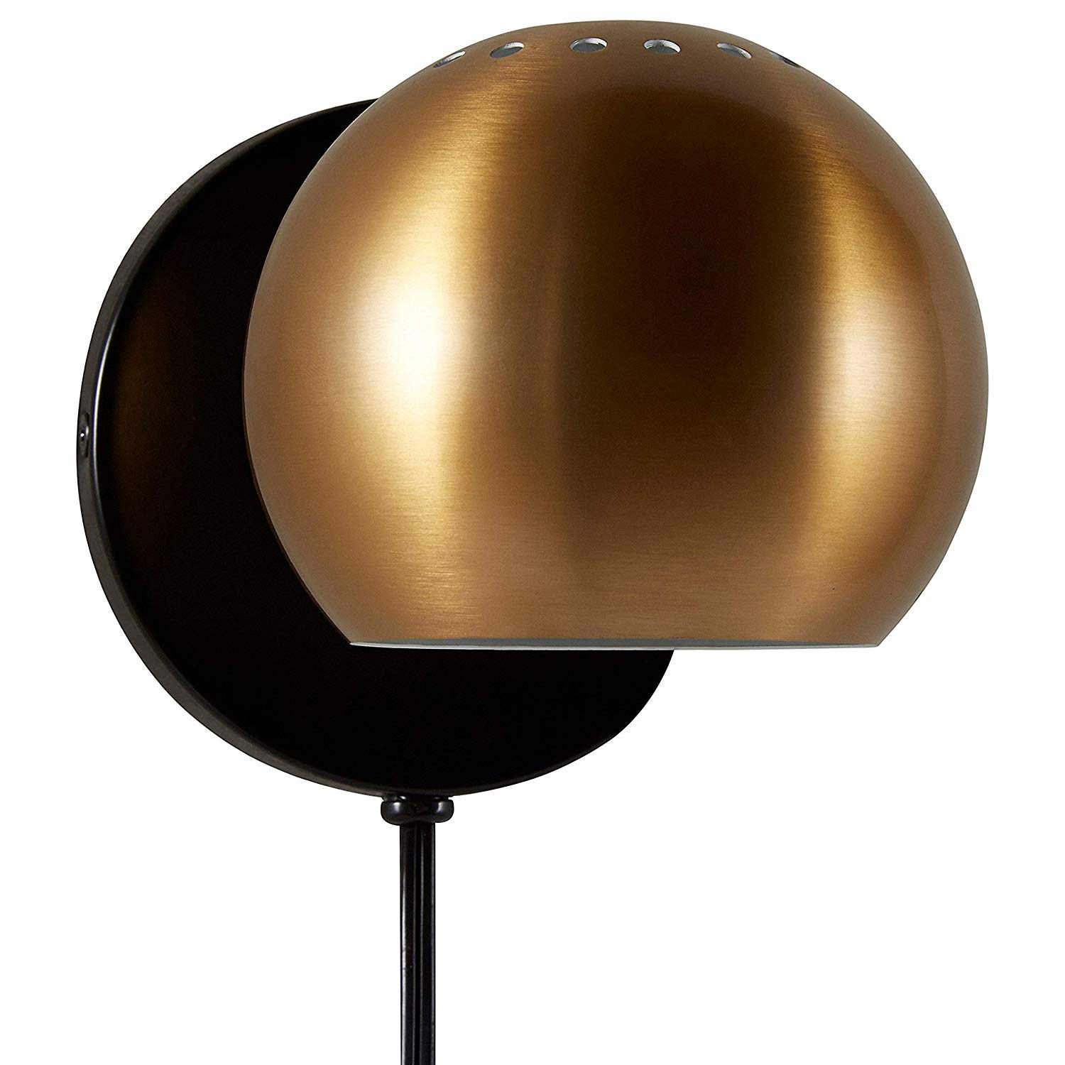 "Rivet Gold Metal Plug-In Wall Sconce 7"" - $29.99"