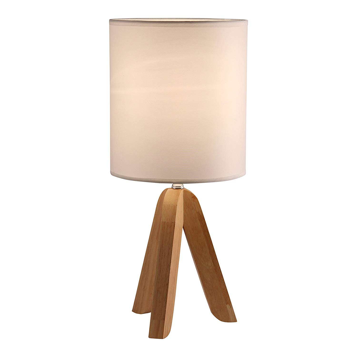 Tripod Table Lamp with Natural Wooden Tripod Base - $29.95