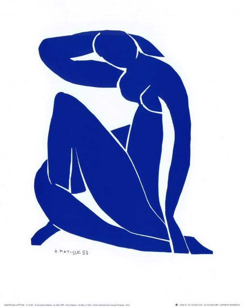 Henri Matisse Blue Nude Print 10 x 12 - $9