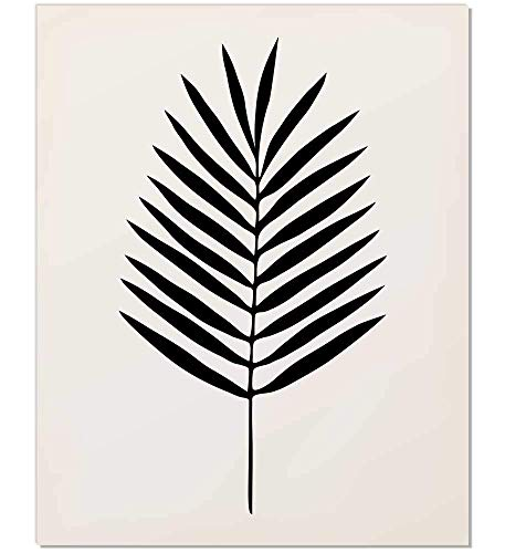 Black Palm Leaf Print - $15.88