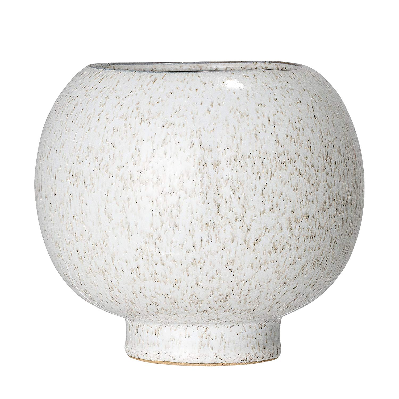 White Stoneware Flower Pot - $20.91