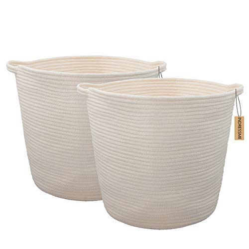 2 Pack XL Round Cotton Rope Storage/Laundry Basket - $39.99