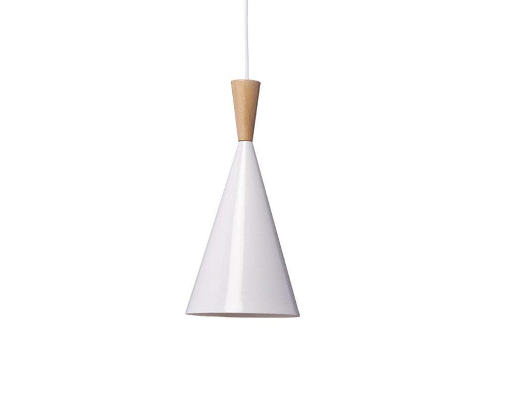 Minimalist White Aluminum Hanging Pendant - $47