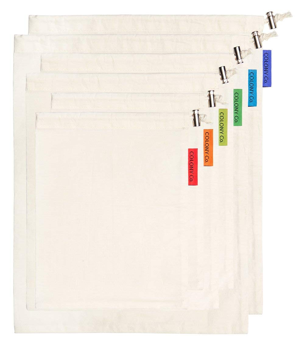 Colony Co. Reusable Natural Cotton Biodegradable Bulk Bin Bags - $22