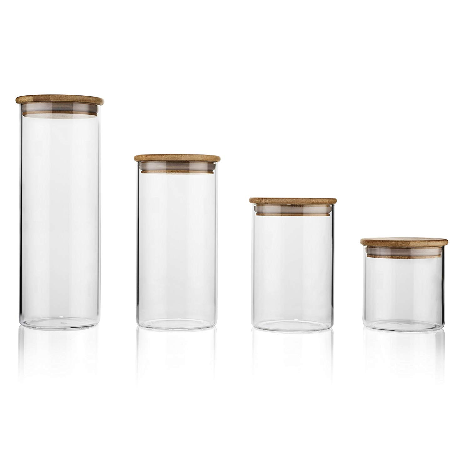 Glass Food Storage Containers with Bamboo Lids - $34.87