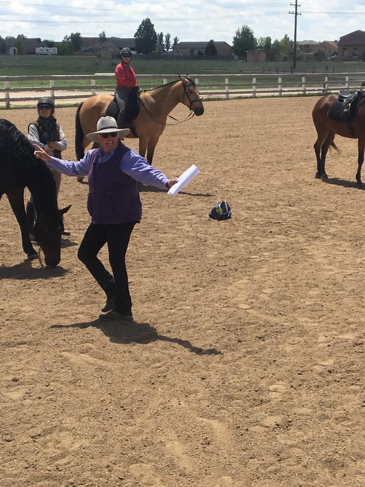 Clinician Anna Blake teaches AVDA students calming signals during a session in Pueblo West.