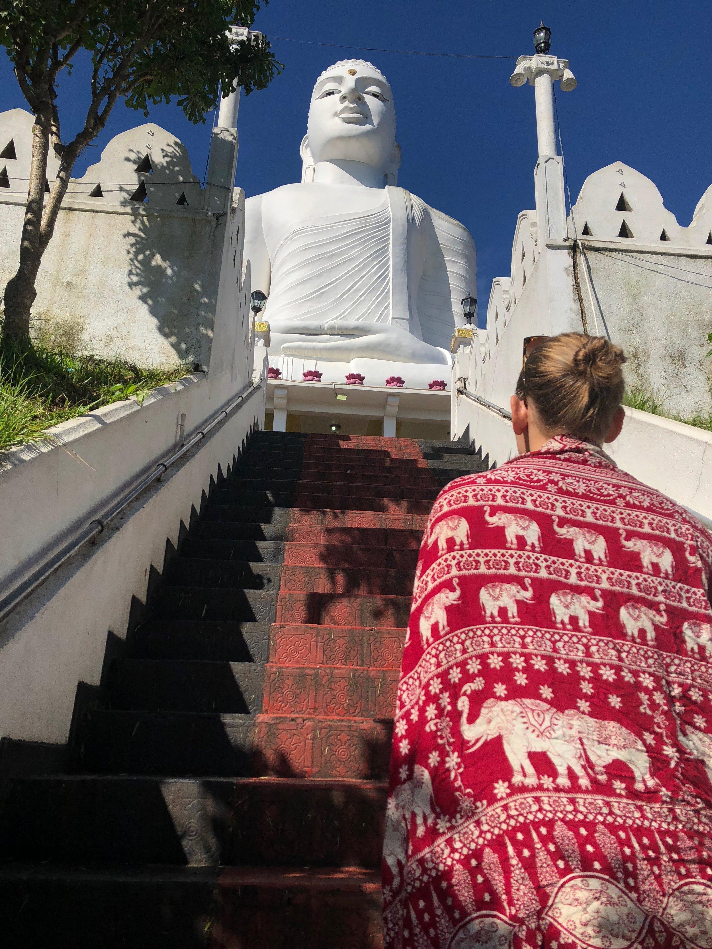 White Buddha Kandy Sri Lanka