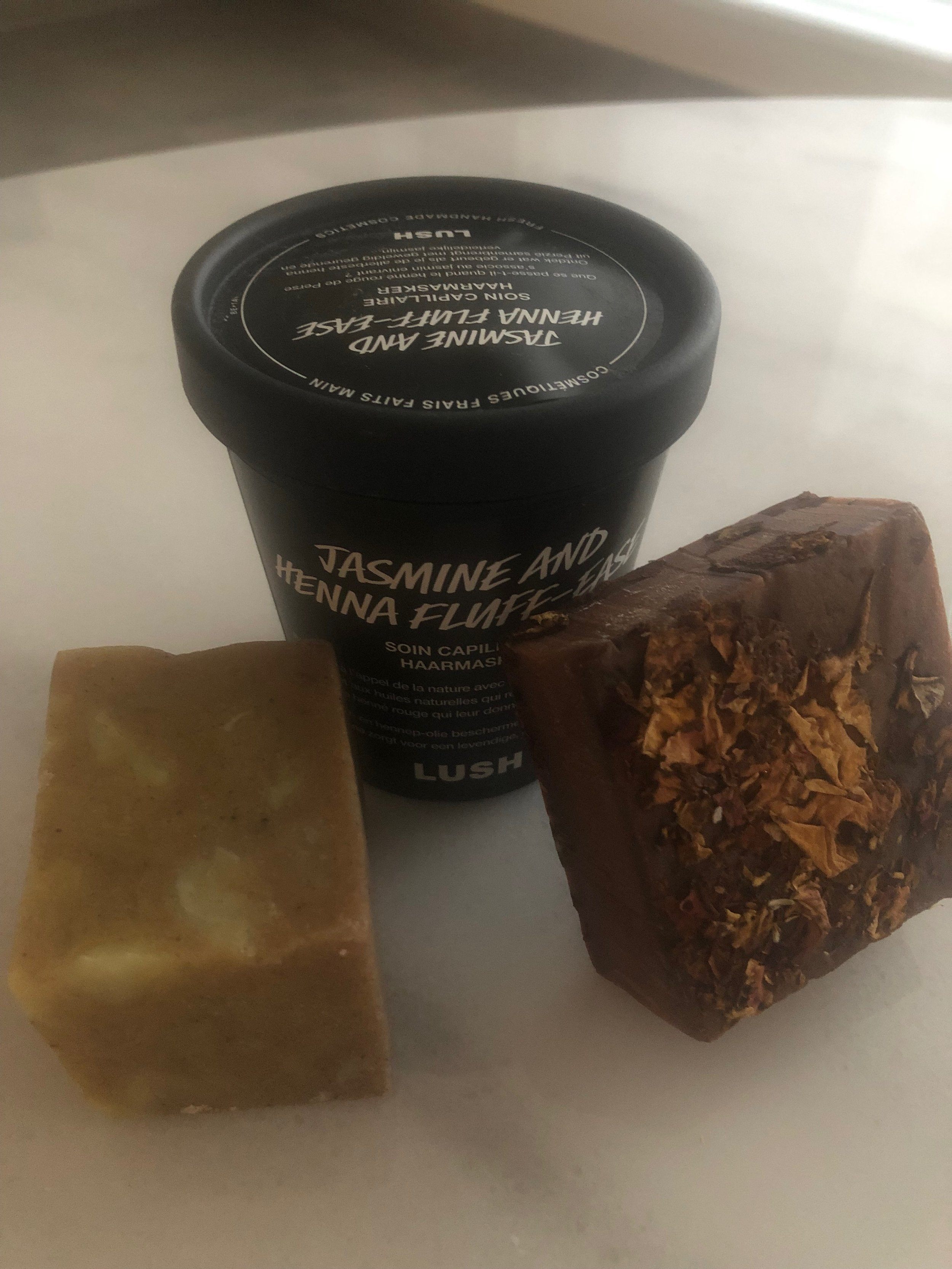 Lush soaps and hair mask