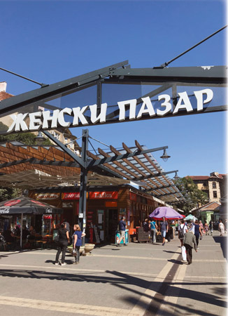 The Women's Market is the center of commerce for Bulgaria's capital city, Sofia.