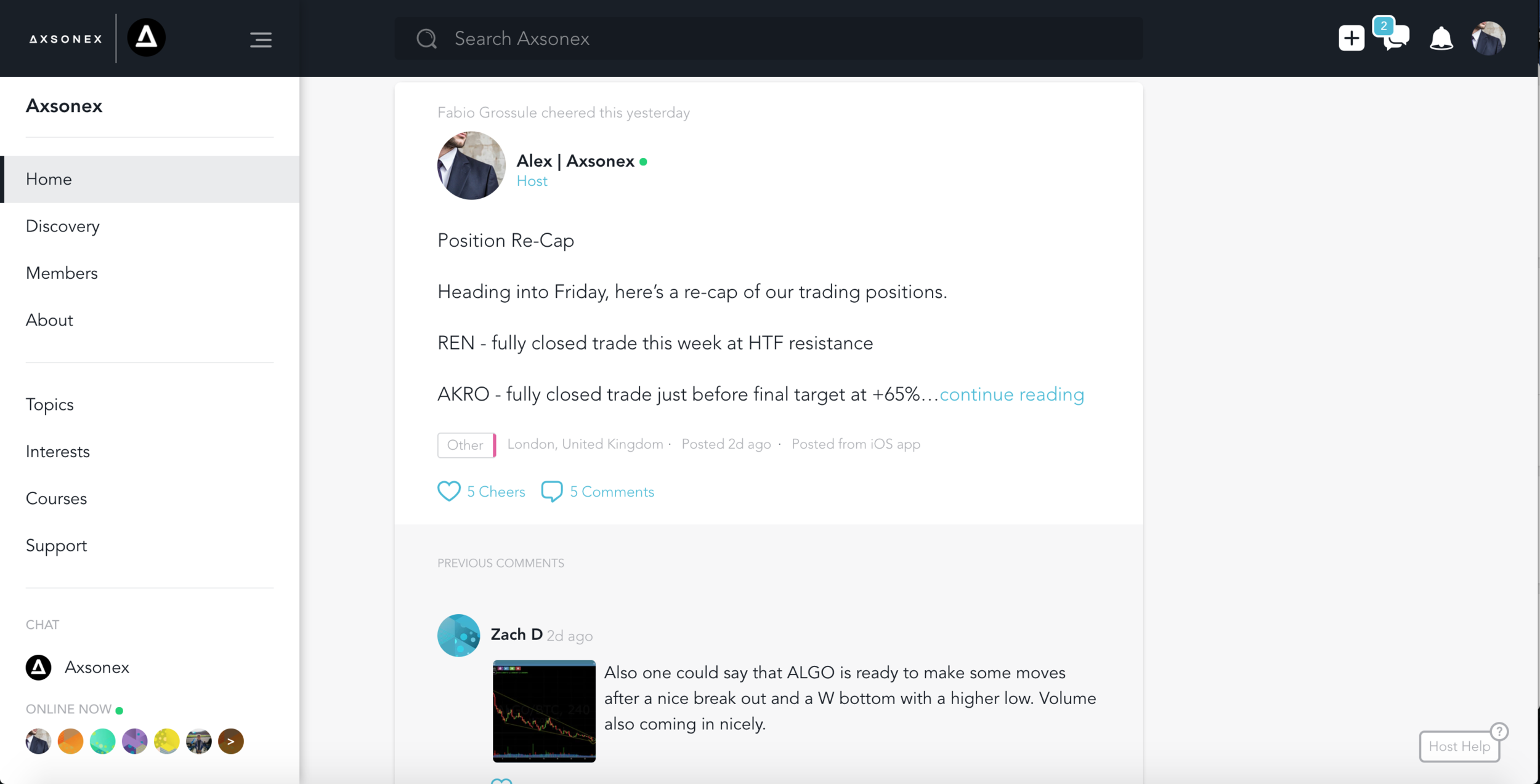 Crypto group feed - interact with other traders in a social environment built for crypto traders