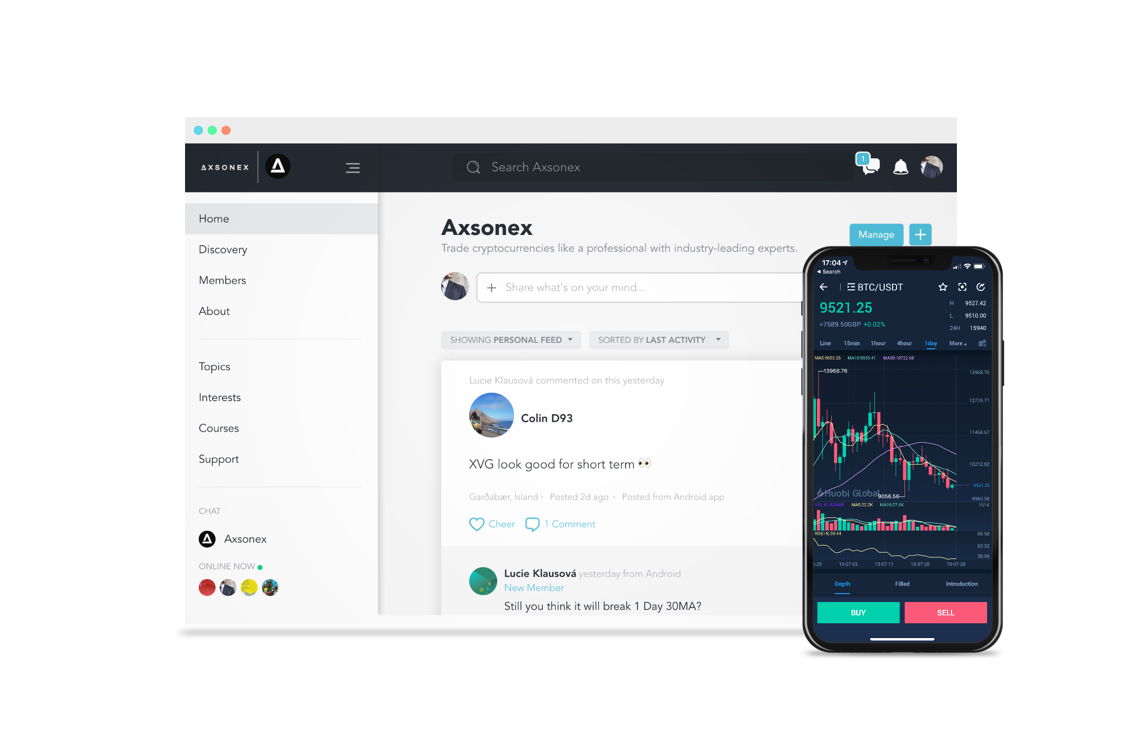 crypto trading room preview