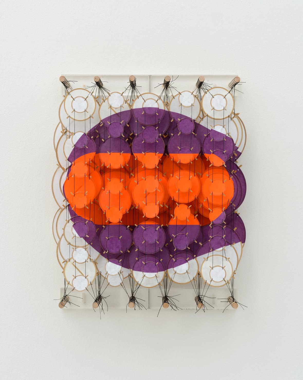 "The Axiom, 2015   Paper, bamboo, acrylic, Dacron   22"" x 17"" x 8"""