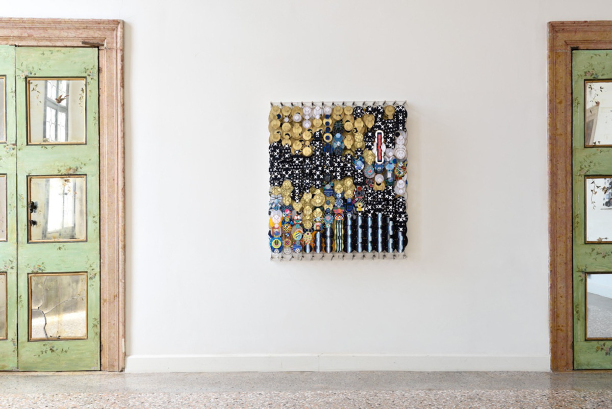 "The Invisible Geography of the Sun, 2017   bamboo, paper, wood, acrylic and Dacron   56"" x 48"" x 8.25""   Photo by Michele Alberto Sereni. Courtesy Studio la Città - Verona, Italy."