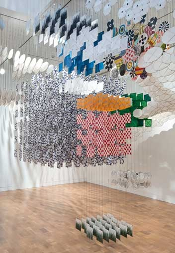 Gas Giant 2014   Installation View   Paper, bamboo, Dacron