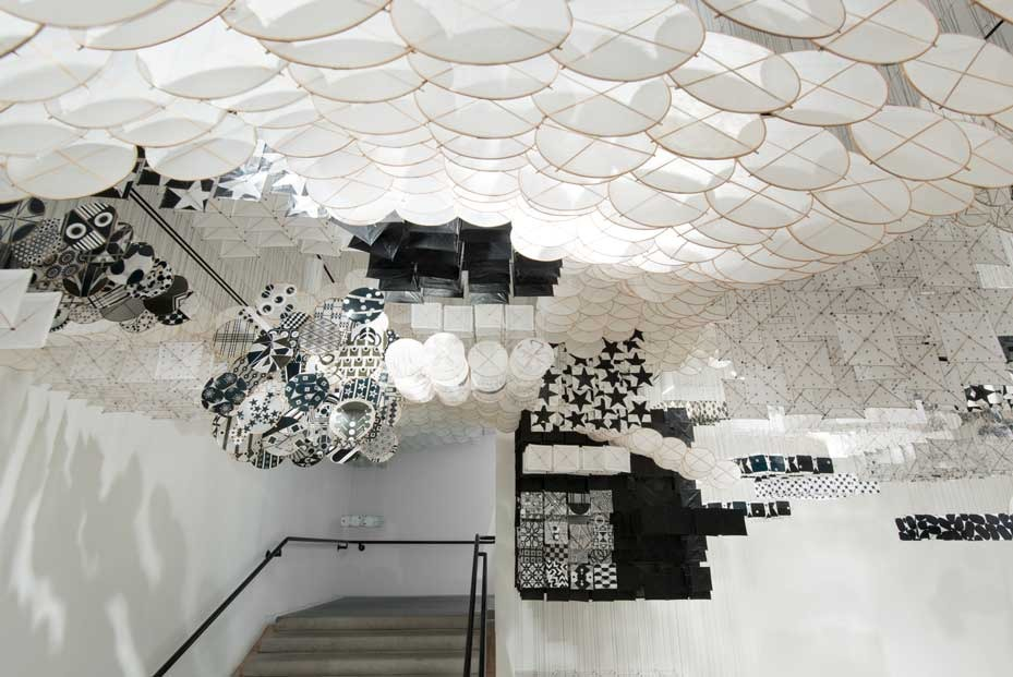 Gas Giant2014   Installation View   Paper, bamboo, Dacron