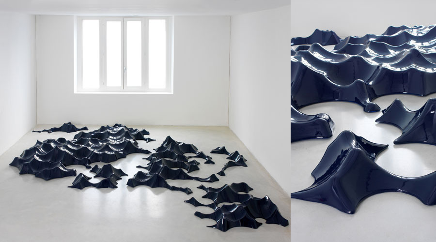 Gun Metal Blue Waves,  2008 