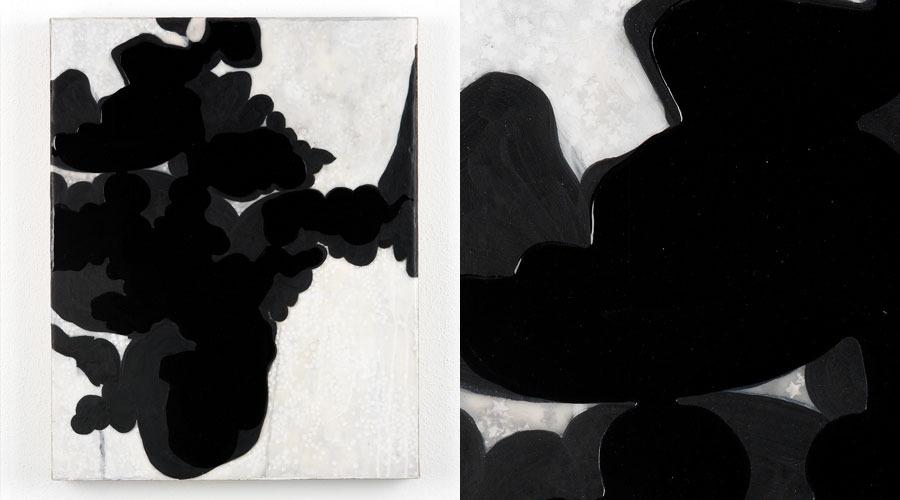 "Inverted Night Reflection, 2008    19"" x 15"" x 1.5""   Paper, acrylic, urethane on linen"