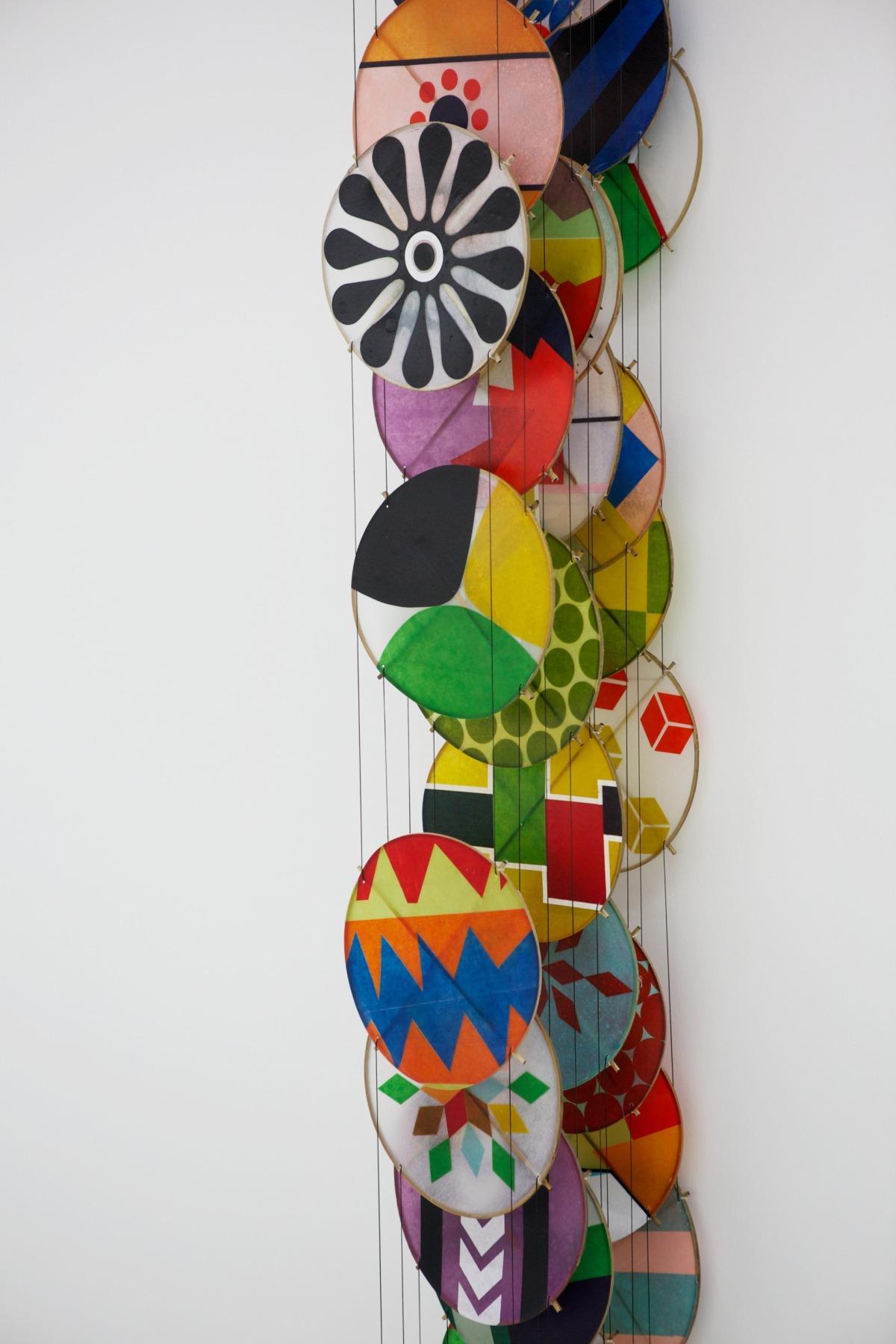 Paper, bamboo, acrylic, Dacron