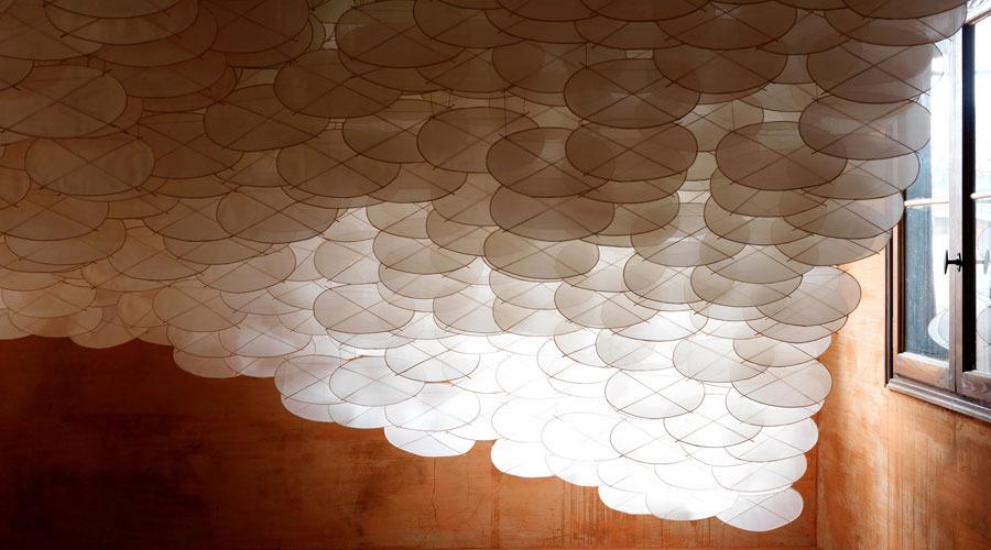 Superabundant Atmosphere 2009   Installation View   Paper, bamboo, Dacron