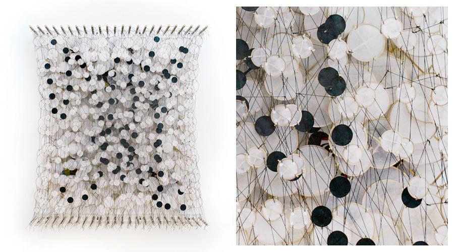 The Spectral Haze of Failing Sight Shadows into a Thousand Tiny Pieces , 2011   Paper, bamboo, acrylic, Dacron