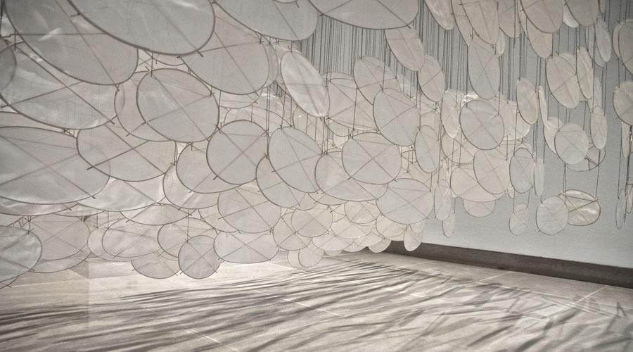 Superabundant Atmosphere2005   Installation View   Paper, bamboo, Dacron