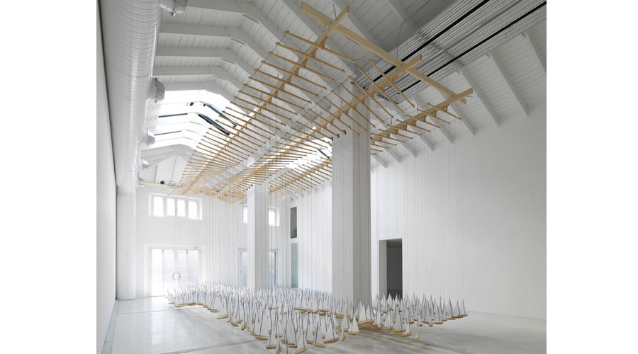 Armada 2011   Installation View   Wood, stainless steel cable, steel, cotton