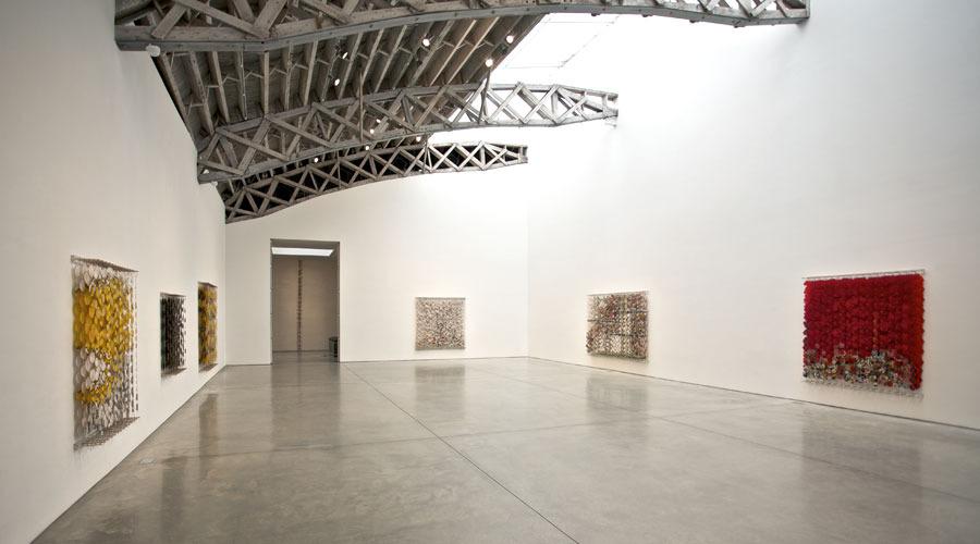 Installation view   Paper, bamboo, acrylic, Dacron