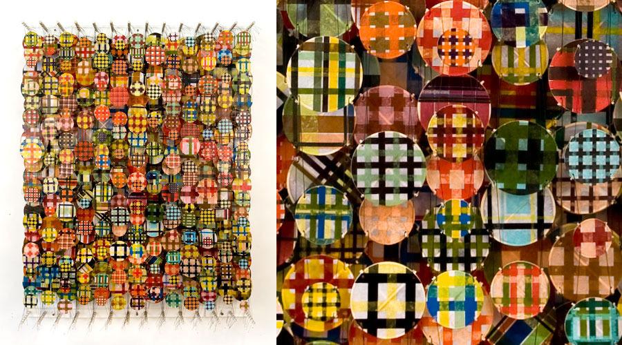 """Plunk , 2009   Paper, bamboo, acrylic, Dacron   62"""" x 47"""" x 8"""""""