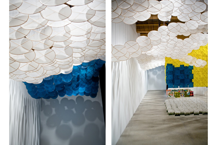 Gas Giant 2012   Installation View   Paper, bamboo, Dacron