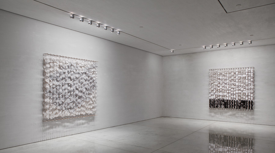 The End of Gravity 2011   Installation View   Paper, bamboo, acrylic, Dacron