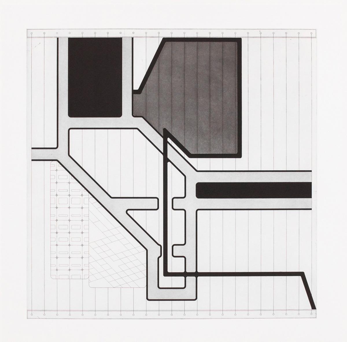 "Lemma II  ,  2015  Hard Ground Etching and Aquatint, Revere Silk 300gsm   Edition 21/25   27.5"" x 17.25""       Durham Press"