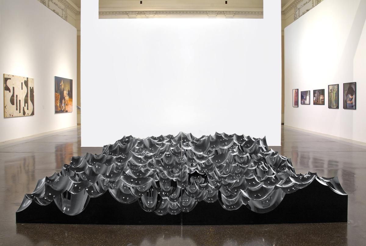 """Eager , 2005   Varnished and glazed polystyrene   157"""" x 157"""""""