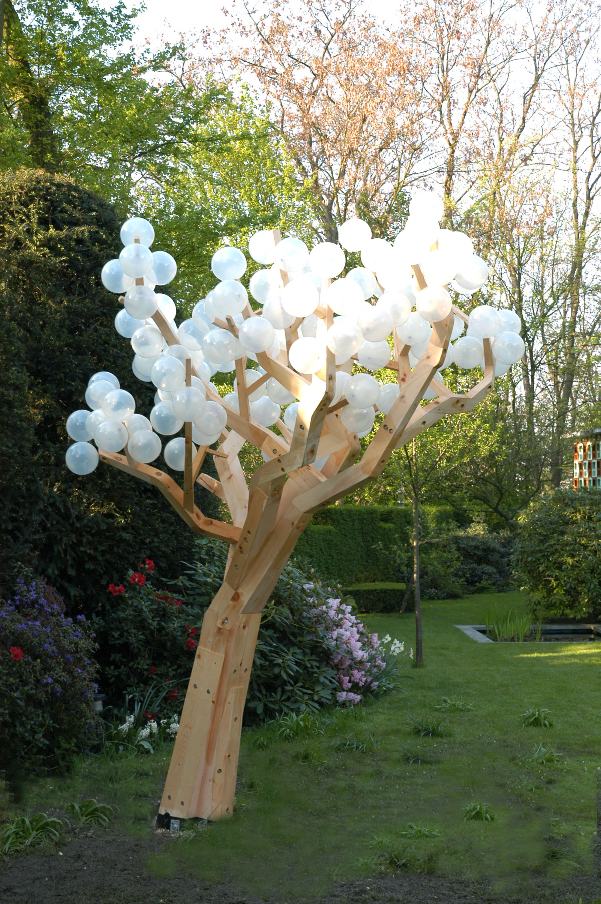 """Untitled (Tree),  2005     Wood and plastic moulded elements     128"""" x 65"""" x 79"""""""
