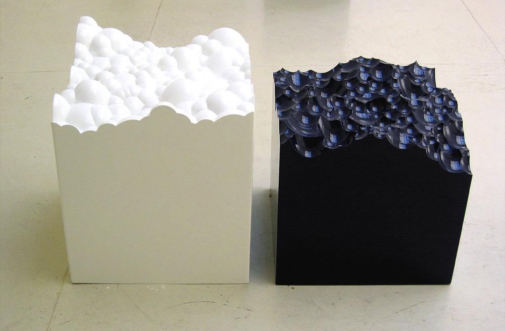 "Positivo e Negativo n.1 , 2005   Varnished high density poliurethane, fiberglass   40"" x 20"" x 20"""